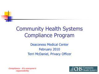 Community Health Systems Compliance Program