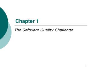 The Software Quality Challenge