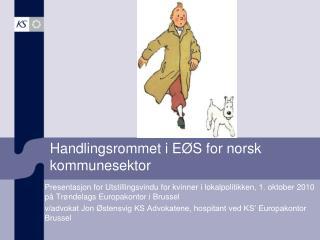 Handlingsrommet i EØS for norsk kommunesektor