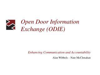 Open Door Information Exchange (ODIE)