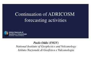 Continuation of ADRICOSM  forecasting activities