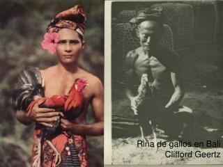 Riña de gallos en Bali Clifford  Geertz