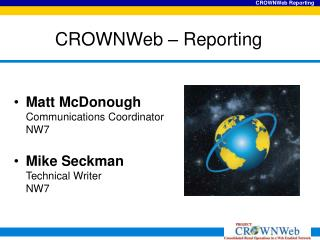 CROWNWeb   Reporting