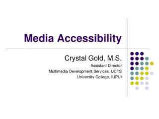 Media Accessibility