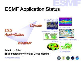 ESMF Application Status