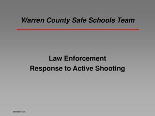 Warren County Safe Schools Team