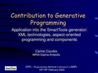 Contribution to Generative Programming