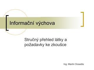 Informacn  v chova