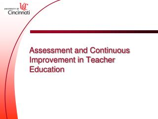 Assessment and Continuous Improvement in Teacher Education