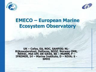 EMECO – European Marine Ecosystem Observatory
