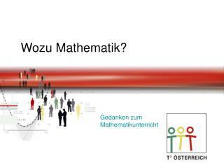 Wozu Mathematik