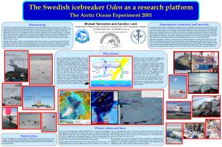 The Swedish icebreaker  Oden  as a research platform The Arctic Ocean Experiment 2001