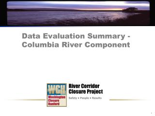 Data Evaluation Summary - Columbia River Component