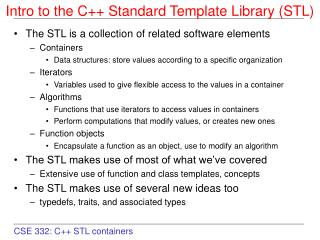 Intro to the C++ Standard Template Library (STL) ‏
