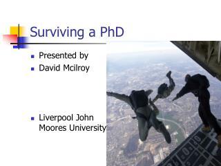 Surviving a PhD
