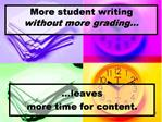 More student writing  without more grading