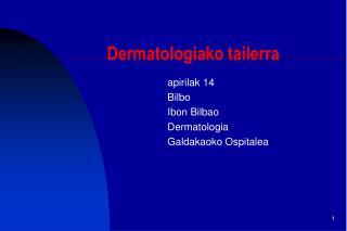 Dermatologiako tailerra