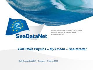EMODNet Physics + My Ocean – SeaDataNet