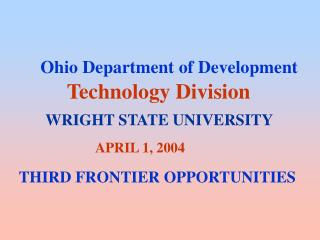 Ohio Department of Development Technology Division