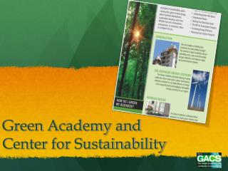 Green Academy and Center for Sustainability