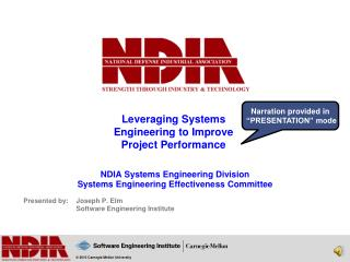 Leveraging Systems Engineering to Improve Project Performance