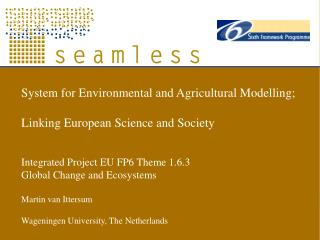 System for Environmental and Agricultural Modelling;