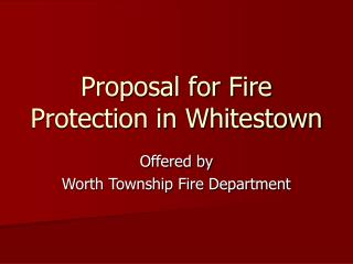 Proposal for Fire Protection in Whitestown