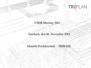 USER-Meeting 2001