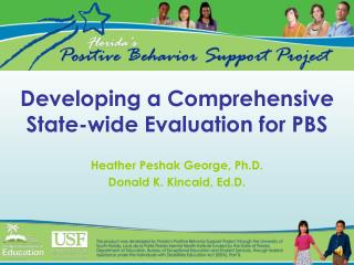 Developing a Comprehensive State-wide Evaluation for PBS