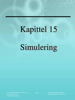 Kapittel 15 Simulering