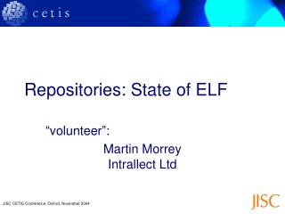 Repositories: State of ELF