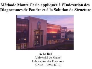 Méthode Monte Carlo appliquée à l'Indexation des
