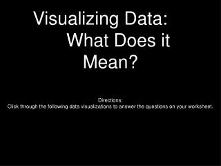 Visualizing Data: What Does it Mean?
