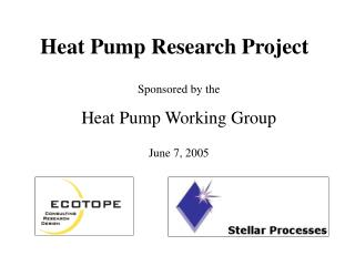 Heat Pump Research Project