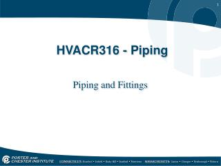 HVACR316 - Piping