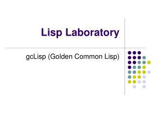 Lisp Laboratory