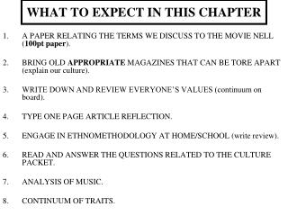 WHAT TO EXPECT IN THIS CHAPTER