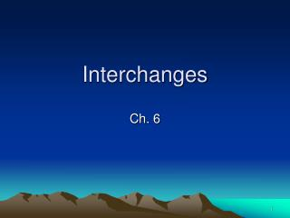 Interchanges