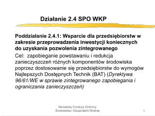 Dzia?anie 2.4 SPO WKP