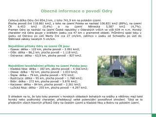 Obecné informace o povodí Odry