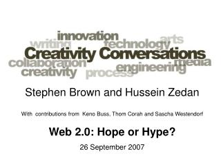 Stephen Brown and Hussein Zedan