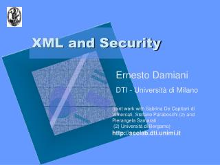 XML and Security