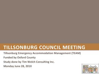 Tillsonburg  Council Meeting