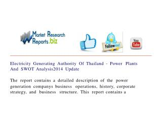 Electricity Generating Authority Of Thailand - Power Plants