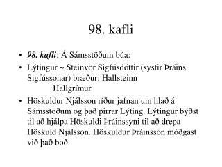 98. kafli