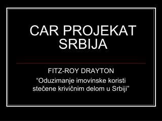 CAR PROJEKAT SRBIJA
