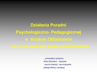 Działania Poradni  Psychologiczno- Pedagogicznej