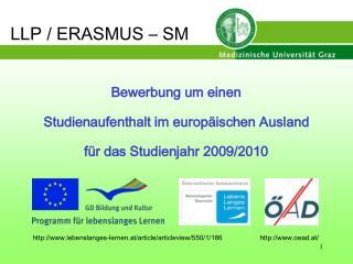 LLP / ERASMUS – SM