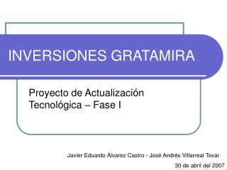 INVERSIONES GRATAMIRA