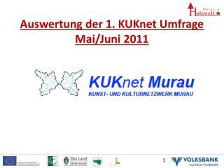 Auswertung der 1.  KUKnet  Umfrage Mai/Juni 2011